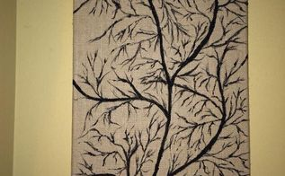paint on burlap canvas, crafts, home decor, painting