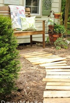 garden path from pallets, diy, gardening, outdoor living, pallet, repurposing upcycling
