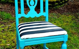 blue chair makeover, painted furniture