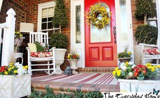 a southern porch reveal for spring 2014, curb appeal, flowers, gardening, porches, seasonal holiday decor, wreaths, Our little porch that could