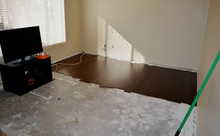living room remodel installing hardwood day 1, diy, flooring, hardwood floors, living room ideas, Initial layout for fit