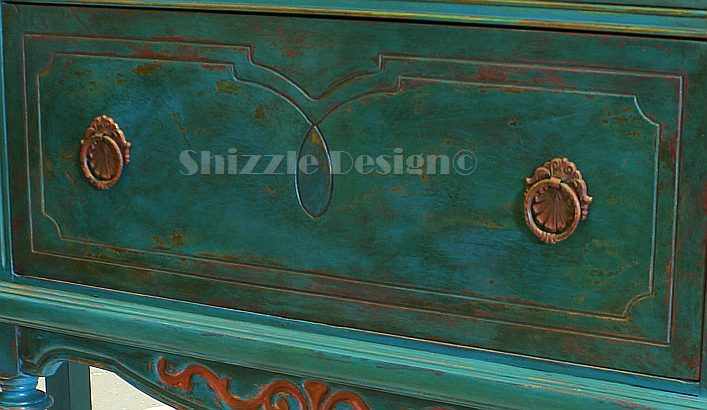 Antique Buffet Painted In Peacock Blue Hometalk