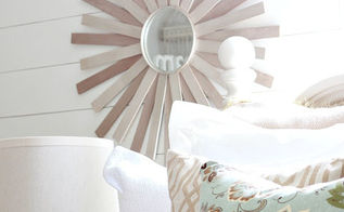 diy sunburst mirror, crafts