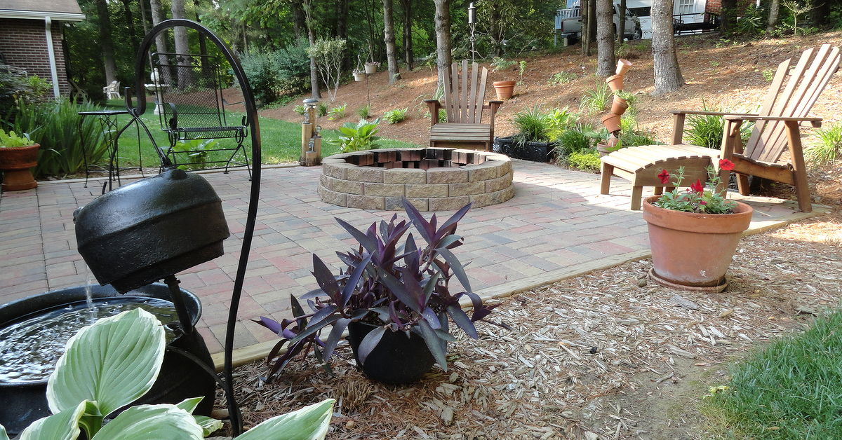 Our Patio And Fire Pit For An Evening Retreat Hometalk
