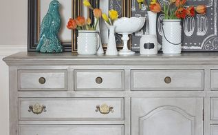 thrifted dresser turned buffet makeover, chalk paint, painted furniture