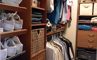 closet update, cleaning tips, closet, Just decide from a large variety of products and click them in From a sturdy wire shelving or more fancy wood shelving in three different colors choices