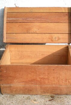 storage out in the open, cleaning tips, storage ideas, An old shipping crate picked up for a song at a yard sale