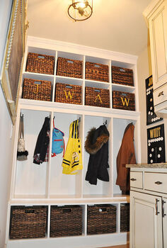 mudroom before amp after, home decor, laundry rooms
