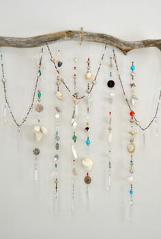 driftwood and seashell wallhanging, crafts, home decor