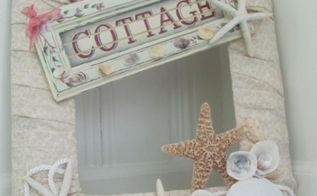 beach cottage wreath, crafts, wreaths, I just glued on all kinds of seashells starfish and anything that looked kind of beachy It was fun decorating