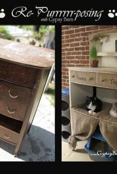 cat condo from destroyed dresser re purrrr posed feline heaven, painted furniture, pets animals, repurposing upcycling, Such a fun project