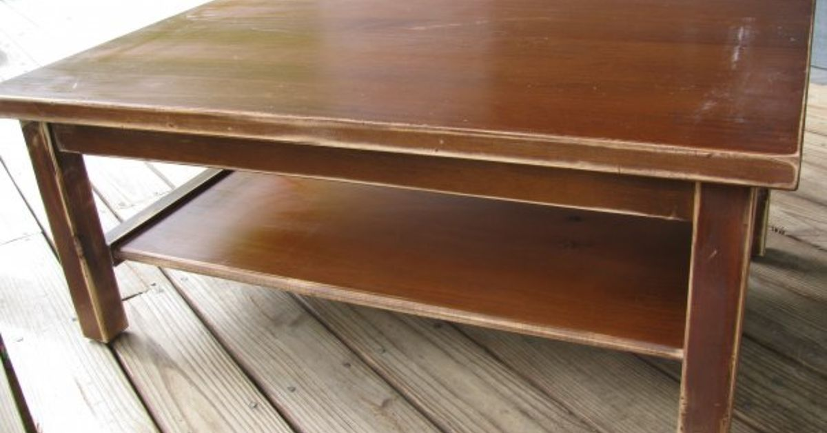Faux Leather Coffee Table Hometalk