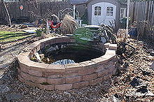 ponds, ponds water features, before pond