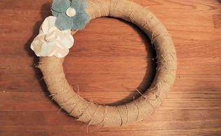 diy burlap wreath, crafts, wreaths, Finished wreath