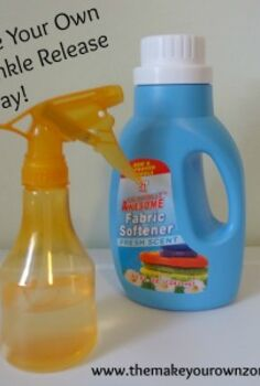 homemade wrinkle release spray, cleaning tips, You can create your own wrinkle release spray by combining water with a bit of fabric softener in a spray bottle
