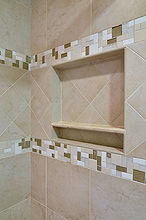 bathroom shower niche, bathroom ideas, tiling