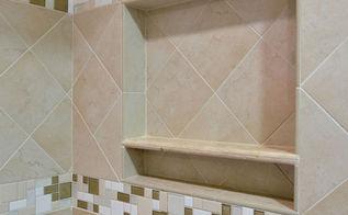 bathroom shower niche, bathroom ideas, tiling