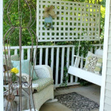 time to get the front porch ready for summer, curb appeal, outdoor living, porches, I have created a little conversation area in this small corner of my front porch