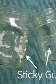 how to make homemade goo gone, cleaning tips, crafts, BEFORE these labels were not coming off easily