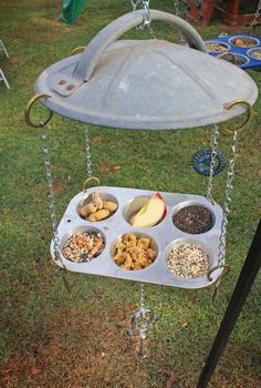 repurposed upcycled hillbilly bird feeders, repurposing upcycling, Repurposed Hillbilly Bird Feeders by GadgetSponge com