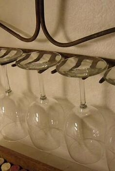 great idea for a wineglass rack, repurposing upcycling, Do you like it