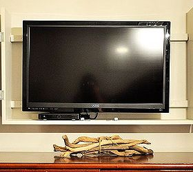diy flat screen tv cabinet, diy, doors, kitchen cabinets, woodworking  projects,