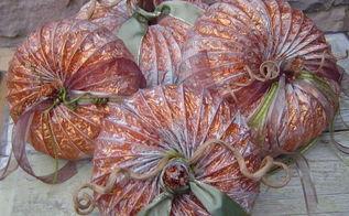 fall pumpkins from dryer vents, repurposing upcycling, seasonal holiday d cor