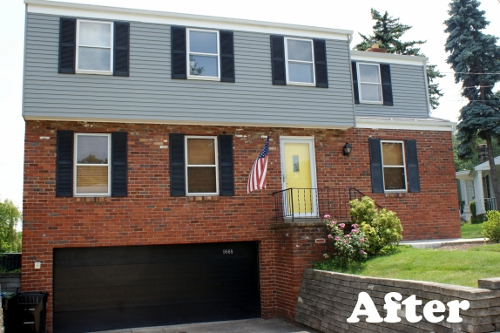 How We Painted Our Aluminum Siding With Brushes Hometalk