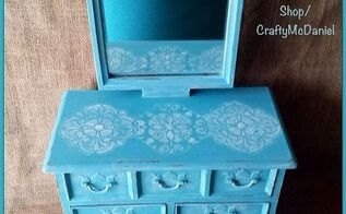 vintage dresser style jewelry box, chalk paint, crafts, painted furniture, repurposing upcycling