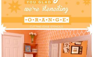 orange you glad we re stenciling orange, home decor, painting