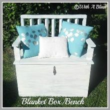 blanket box amp bench, painted furniture, shabby chic, The finished project Space for all our extra blankets cushions etc and a place to sit down and take our shoes off because my late granny always said It is improper to sit on a bed lol Hope she is not watching me every day