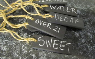 repurposed shutter slats beverage tags, repurposing upcycling, I did three other styles you can see them on my blog post Beverage Tags repurposed shutter slats