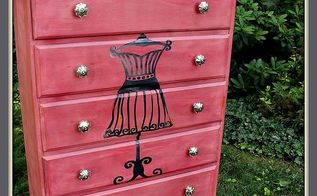 discarded dresser turned dress form beauty, painted furniture, The finished Dress form dresser