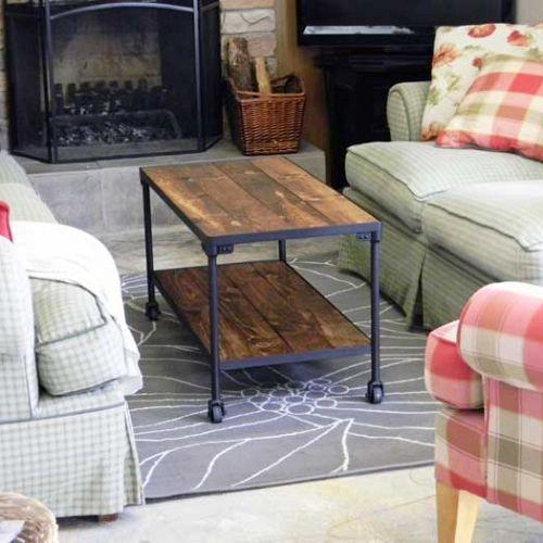 diy industrial inspired coffee table, painted furniture, full view - DIY Industrial Inspired Coffee Table Hometalk