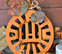 the great grate pumpkin, crafts, repurposing upcycling, seasonal holiday decor, Great Grate Pumpkin