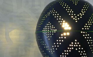 west elm inspired perforated globe pendant, diy, how to, lighting, The lamp throws great light and shadows