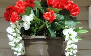 diy faux floral hanging baskets, crafts, flowers, gardening