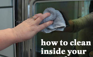 how to clean inside your oven door, appliances, cleaning tips