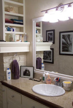 a bathroom remodel in our last house, bathroom ideas, home decor