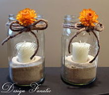 super simple mason jar candles for fall, crafts, mason jars, patio