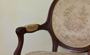 french arm chair, painted furniture
