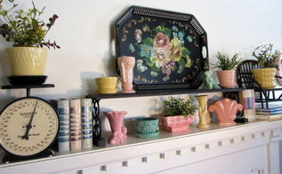 a tole tray inspired spring mantel, seasonal holiday decor, I also used a black over the sink kitchen shelf a black scale and a black twig chair
