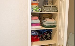easy steps to simplify your linen closet, cleaning tips, closet, stairs