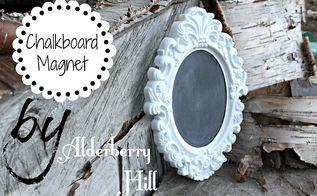 diy chalkboard magnet, chalkboard paint, crafts