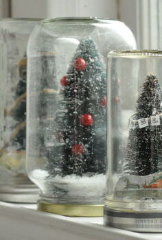 diy holiday waterless diorama style snow globes, crafts, seasonal holiday decor, Get creative with your recyclables