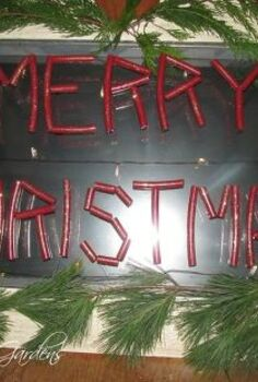 recycled window into a christmas sign, christmas decorations, repurposing upcycling, seasonal holiday decor