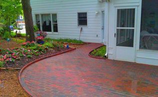 installing pavers over your existing patio is a great way to change the look of your, concrete masonry, patio