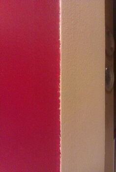 q my kitchen walls were painted a deep cranberry red by the previous homeowner i, painting, Kitchen to dining room transition