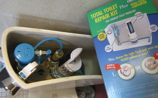 water saving toilet kit, plumbing, European in our bathroom in more ways than one