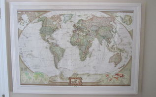 frame i built to track my travels, crafts